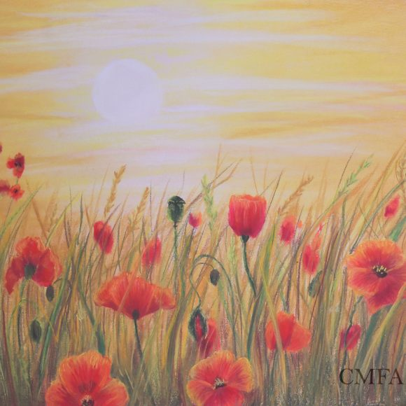 Tuscan Sunset on Poppies